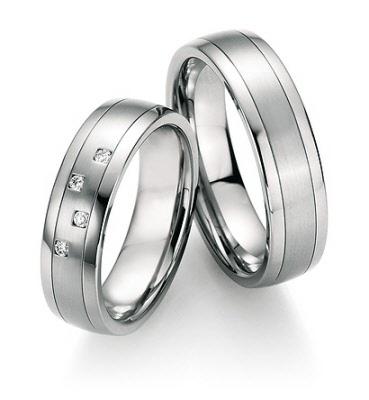 Edelstalen ringen met diamant