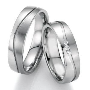 Edelstalen trouwringen