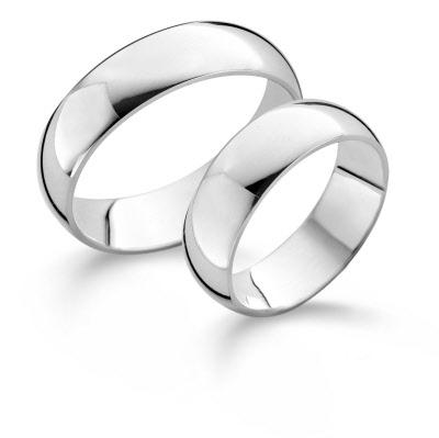Klasiek zilveren relatieringen