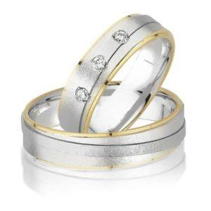Tweekleurige trouwringen 51