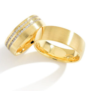 Matte trouwringen X013
