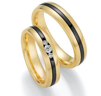 Black & Gold 14/10130-050 585 Gold/Zirconium