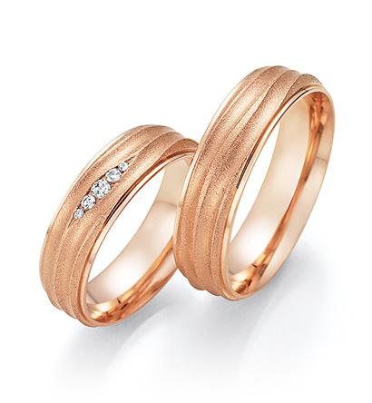 Roodgouden trouwringen Honeymoon Solid X